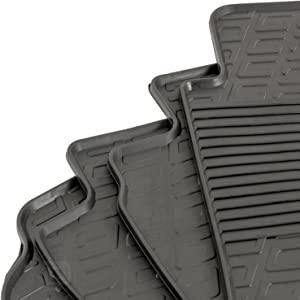 Gledring GLED-0866 Custom Tailored Fit Black All Weather Rubber Car Floor Mats