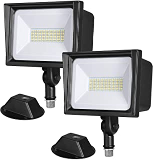 DEWENWILS 2-Pack 65W LED Flood Light Outdoor, IP65 Waterproof 6670 Lumen Super Bright(500W Halogen Equiv)Adjustable Knuckl...