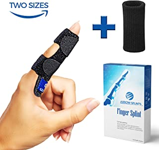 Arrow Splints Finger Splint for Mallet Finger, Trigger Finger, Arthritis Pain, Sport Injuries, Basketball, Volleyball, Bowling fits Index, Middle Finger, Ring, Pinky Finger + Compression Finger Sleeve