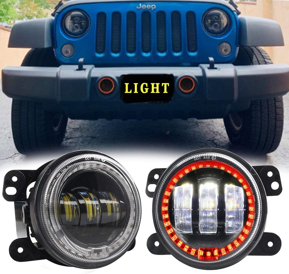 Now free shipping 4 Inch low-pricing Offroad Lights Athiry 30W Led Bulb Red Lamps Fog Auto