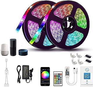 Gizmozs Tira LED, led lights, Luces LED con Kit, Tira de luz controlada por teléfono Inteligente, inalámbrico, WiFi 5050, ...