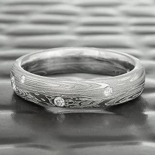 Diamond Damascus Wedding Ring   TIDEPOOLS