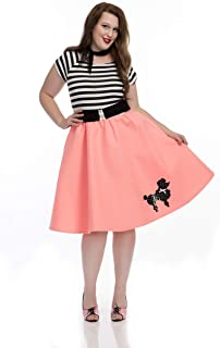 Charades Women's Plus Size Black and Pink 50s Poodle Dress