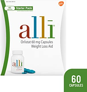 alli Diet Weight Loss Supplement Pills Starter Pack, 60 Count