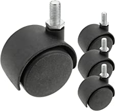 PrimeMatik - Draaibaar nylon wiel zonder rem 40 mm M6 4-pack