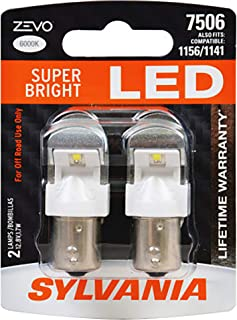SYLVANIA - 7506 ZEVO LED White Bulb - Bright LED Bulb, Ideal for Daytime Running Lights (DRL) and Back-Up/Reverse Lights (Contains 2 Bulbs)