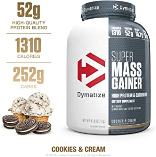 Dymatize Super Mass Gainer Protein Powder, 1310 Calories & 52g Protein, Gain Strength..
