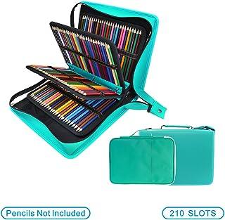 YOUSHARES - Estuche para lápices de colores de piel sintética con 200 + 16 compartimentos gran capacidad para lápices de...
