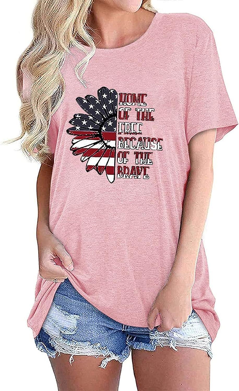 t-Shirt Women,Women's Short Sleeve Shirts Loose Casual Summer Tops Beautiful Print O Neck Tshirts Comfy Soft Blouses