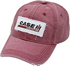 Case IH Embroidered Applique Red Stone Wash Cap - Officially Licensed