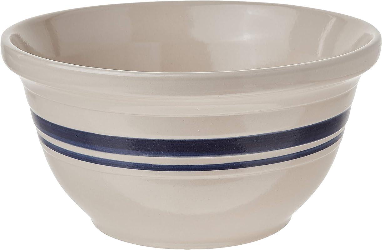 Ohio Stoneware 12096 12 In Dominion Mixing Bowl Ceramic Bristol With Navy Stripe