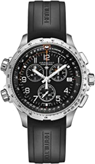 Hamilton Khaki X-Wind Black Dial Silicone Strap Men's Watch H77912335