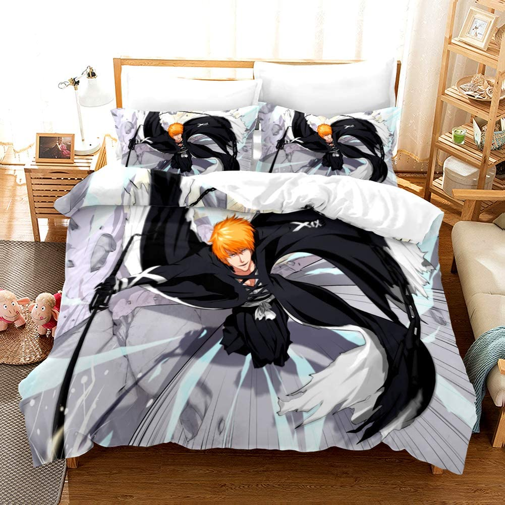 YUN-1 Direct sale shipfree of manufacturer 3-Piece Bedding Set HD Comf Patterns Anime Polyester Fiber