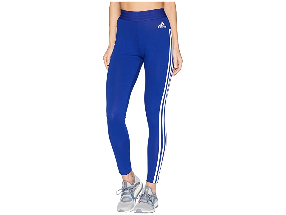 adidas Essential 3-Stripe Tights (Mystery Ink/White) Women