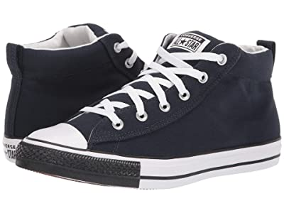 Converse Chuck Taylor All Star Street Mid (Dark Obsidian/White/Black) Shoes