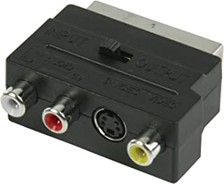 KOO Interactive-Adaptateur Video Peritel – 3 RCA – 1 SVHS – Switch..