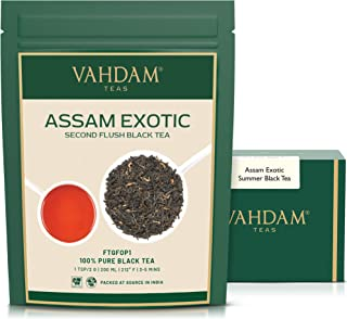 VAHDAM, Assam Tea Leaves with Golden Tips, 3.53 Oz (50 Cups) - Strong, Malty & Rich - Exotic Assam Tea Loose Leaf - 100% C...