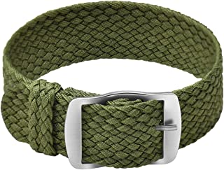 Ullchro Nylon Watch Strap Perlon Braided Woven Watch Band NATO Men Women - 14, 16, 18, 20, 22 mm