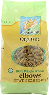 bionaturae Organic Whole Wheat Elbows, 16-Ounce Bags (Pack of 12)