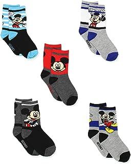 Disney Mickey Mouse Little Boys 6 pack Socks (Toddler)