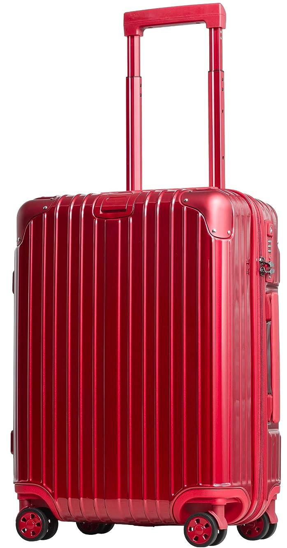 背が高いバーベキュー起こりやすいスーツケース ファスナー 機内持込 軽量 超消音 ダブルキャスター 8輪 TSA キャリーケース キャリーバッグ