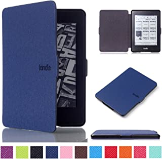MOKASE Case for Kindle Paperwhite, PU Leather Hard Case Shell Shock Proof Protective Case Cover with Smart Wake/Sleep Funt...