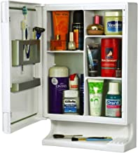 Parasnath White Look Bathroom Cabinet with Cabinet with Mirror Made in India