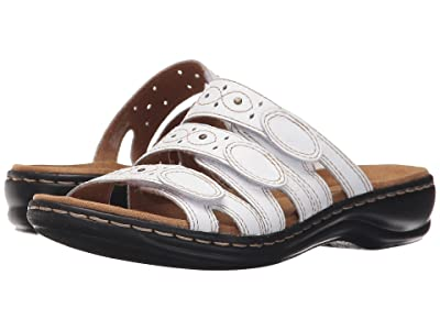 Clarks Leisa Cacti Q (White Leather) Women