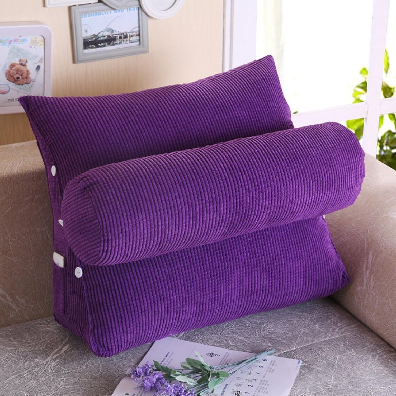 LIUSHIJITUAN Plush Reading Cushion,Removable Sofa Cushion Office Lumbar Pads-C 60x25x50cm(24x20x10inch)