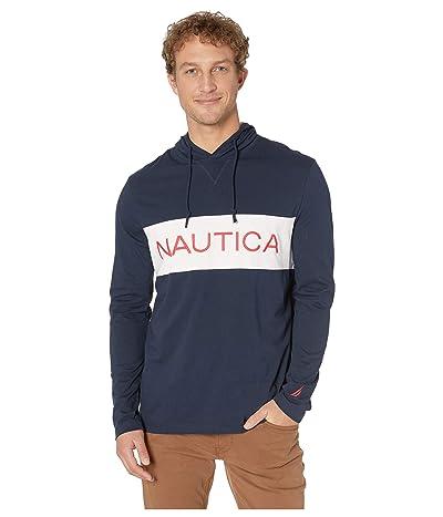 Nautica Blocked Beach To Street Hoodie (Navy) Men