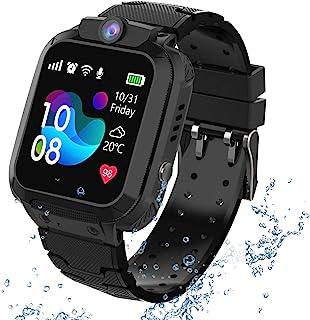 GPS Tracker Kids Smartwatch Phone per Bambini Impermeabile, Localizzato pedometro con Chat Vocale, Sveglia SOS per il Gioc...