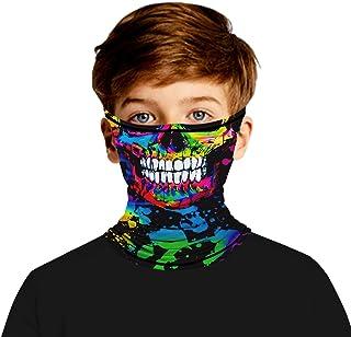 Ainuno Kids Bandana Mask (7-14 Years),Face Bandana for Boys Girls with Ear Loops