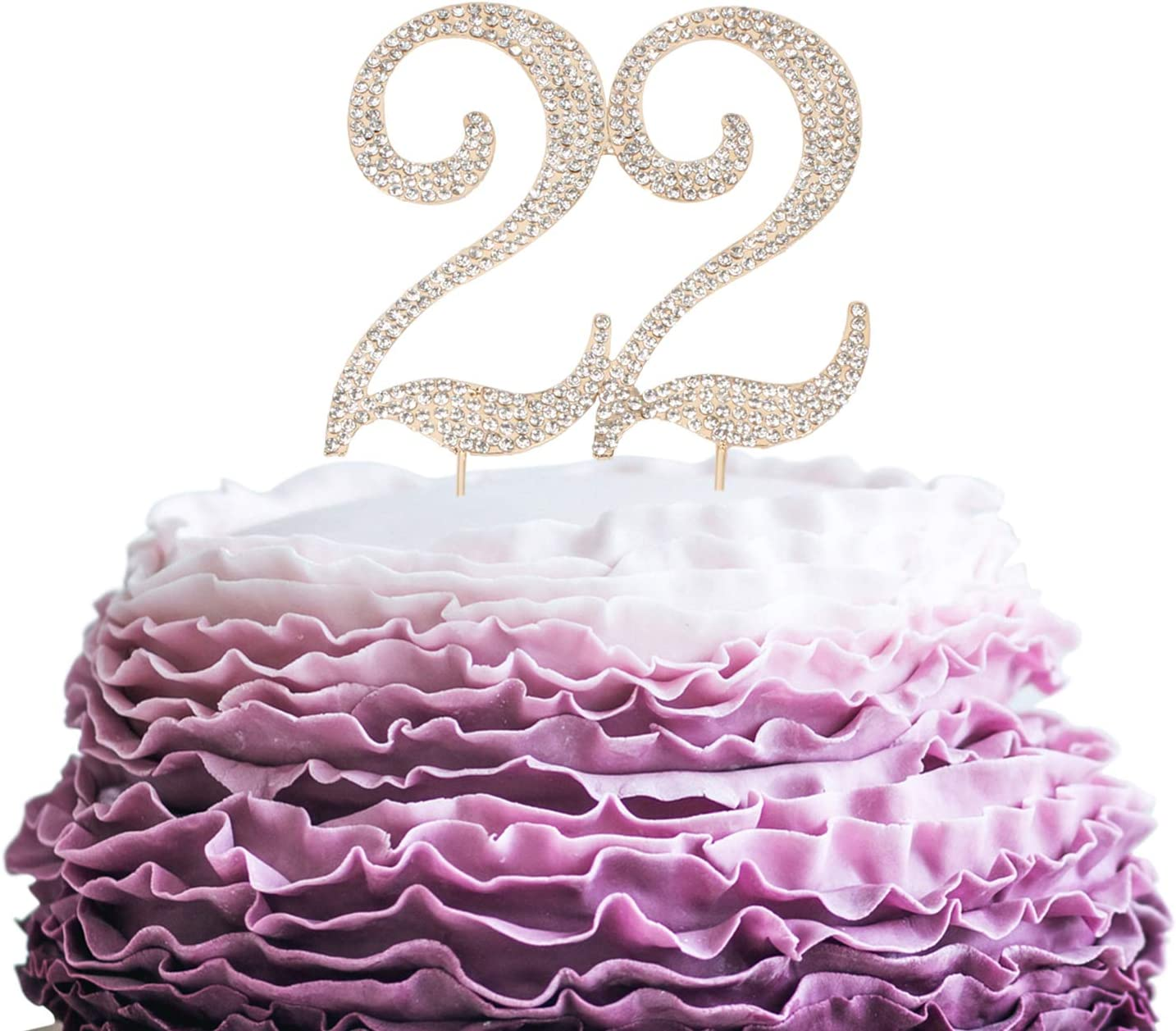 LINGPAR 22 Years Birthday Outlet SALE Cake Topper Best - Rhinest New San Diego Mall Crystal