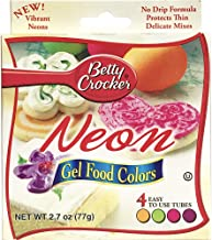 Betty Crocker Gel Icing Food Colors 4/Pkg-Neon