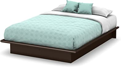 Basic Collection Platform Bed with Moulding - Queen Size - Chocolate - Contemporary Design -  by South Shore