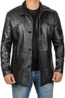 Mens Leather Jacket - Black Real Lambskin Leather Jackets for Mens