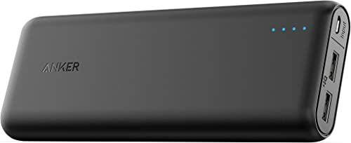 Carregador Portátil PowerBank Anker PowerCore 20.100mAh, 2 portas USB, Tecnologia de Carregamento Rápido, Preto