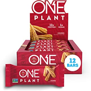 ONE Plant Protein Bars, Churro, Vegan, Gluten Free Protein Bars with 12g Protein & Only 1g Sugar, Guilt-Free Snacking for ...