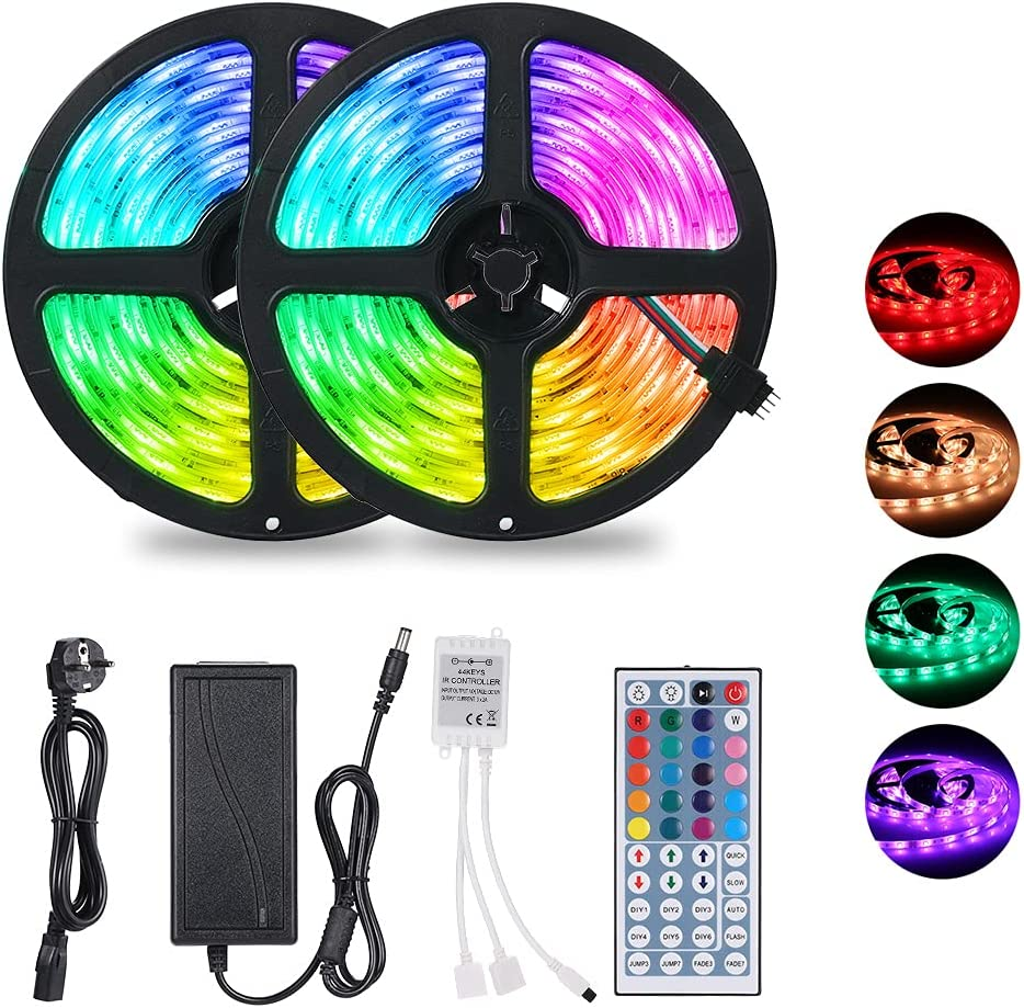Tiras LED multicolor con mando a distancia por sólo 9,99€ ¡¡67% de descuento!!
