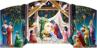 Vermont Christmas Company Visiting the Manger Free Standing Advent Calendar
