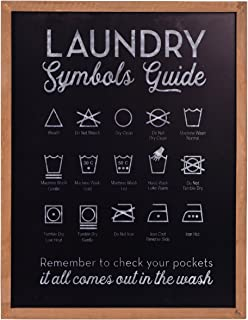 NIKKY HOME Metal Laundry Symbols Guide Wall Decor Sign