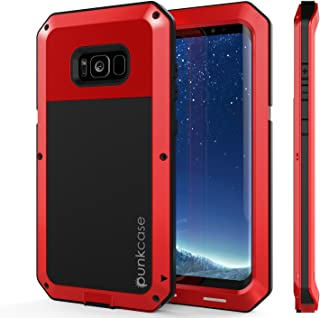 Galaxy S8 Plus Metal Case, Heavy Duty Military Grade Rugged Armor Cover [Shock Proof] Hybrid Full Body Hard Aluminum & TPU Design [Non Slip] W/Prime Drop Protection for Samsung Galaxy S8+ [Red]