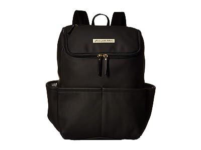 petunia pickle bottom Matte Leatherette Method Backpack (Black) Diaper Bags