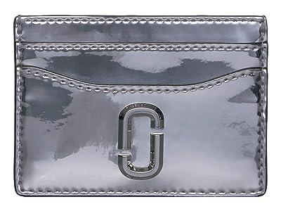 Marc Jacobs Gift Giving Snapshot Card Case (Silver) Wallet Handbags