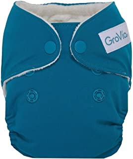 GroVia Newborn All in One Snap Reusable Cloth Diaper (AIO) (Abalone)