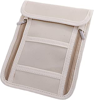 Prettyia Flexible Strap Neck Pouch Credit Card Phone Passport Bag Travel Wallet