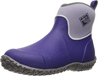 Muck Boot Kid's Muckster Ankle Boot, Navy & Lime