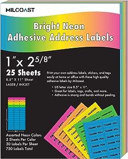 Milcoast Bright Neon Address Labels - 1