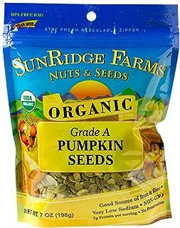 SunRidge Farms Organic Pumpkin Seeds NonGMO Verified, 7 Ounce Bag (Pack of 12)
