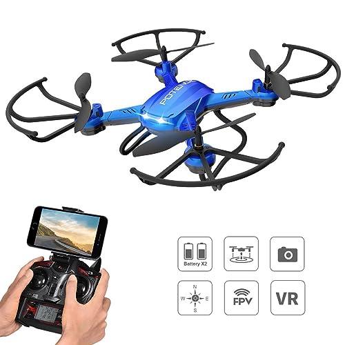 Potensic Drone F181WH con Telecamera, WiFi FPV 2.4GHz 4CH con ...